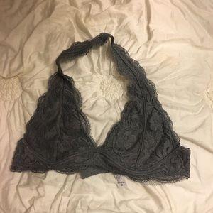 M tull tilt gray lace bralette